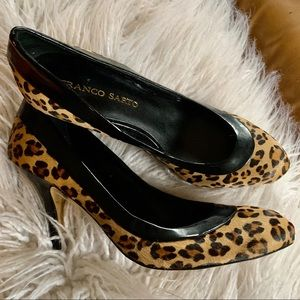 Franco Sarto leopard calf hair pumps size 8.5